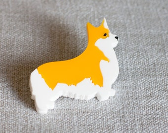 Corgi brooch - Corgi Jewellery - Dog brooch - Dog gift - Corgi Gift - Gift for dog lover - Corgi Jewelry - Gift with Corgi - Corgi Dog