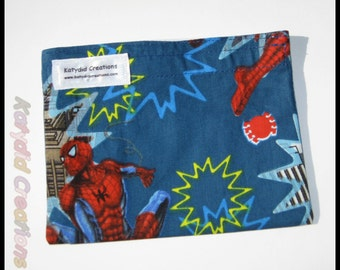 Eco Friendly Re-useable Snack Bag - Spiderman