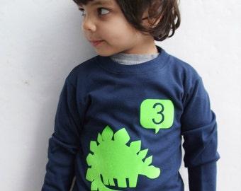 Age T shirt  Dinosaur