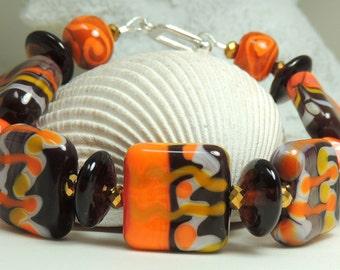 WESTERN Handmade Lampwork Bead Bracelet