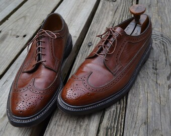 Vintage Florsheim Imperial Wingtips V-Cleat Square Nail