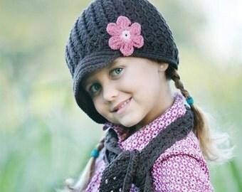 Baby Girl Hats Newborn Hats, Baby Hats Photo Prop, Infant Hats, Baby Crochet Hat, Baby Girl Crochet Hats, Baby Girl Visor Hats