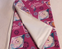 "27""X27"" Adult Diaper Changing Pad Frozen Sisters Forever"