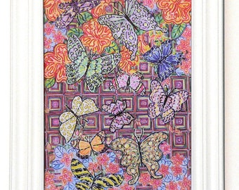 Greeting Card, Butterfly, Butterflies, Beauty, Flower, Vibrant, Insect, Nature, EcoFriendly, Eco Art, Sustainable, Energy, Happy, Spirit