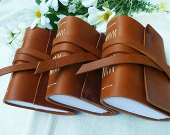 3 Leather Journals - Groomsmen's Gifts - made to order