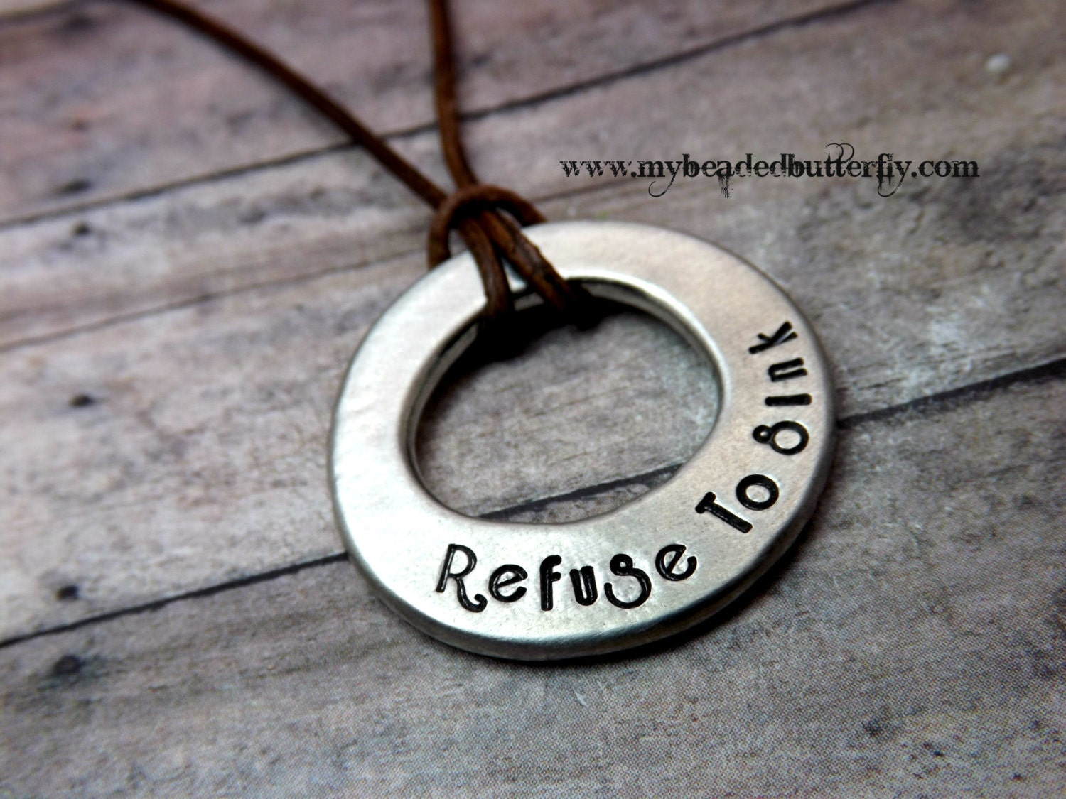 mens necklace personalized necklace mens washer