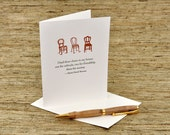 I had three chairs in my house - Thoreau quote - letterpres card
