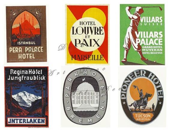 vintage steamtrunk labels, a vintage printable digital download sheet no. 328