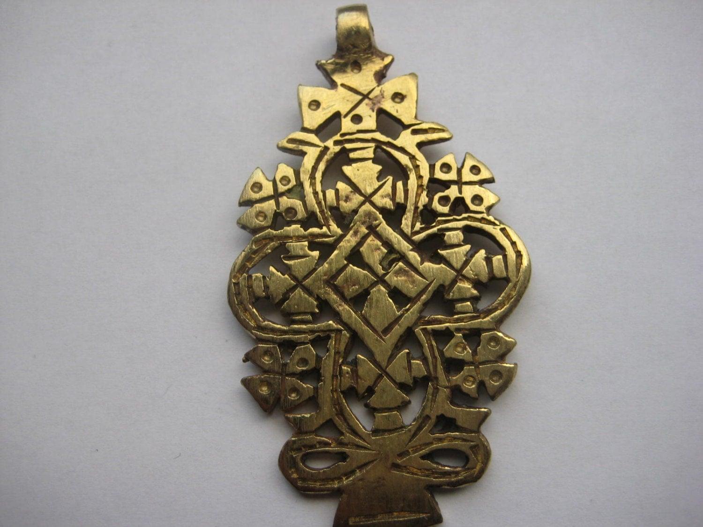 messing gold farbe thiopische koptische kreuz. Black Bedroom Furniture Sets. Home Design Ideas
