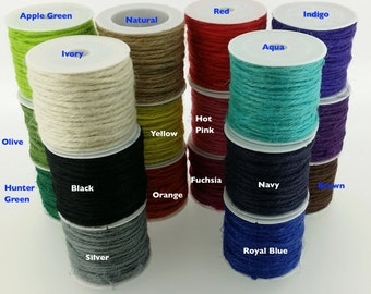 1 spool - Colored Jute Twine in 10 meter Spool - Craft Accessory