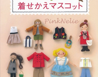 FELT DOLL Mascots Playtime n3578 Japanese Craft Book