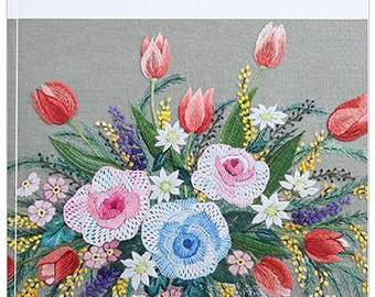 140 French Embroidery Designs - Japanese Craft Book