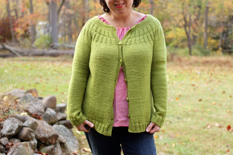 Knitting Cardigan Tutorial : Everyday cardigan knitting pattern and tutorial from