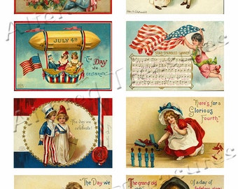 4th of July Collage Sheet 2