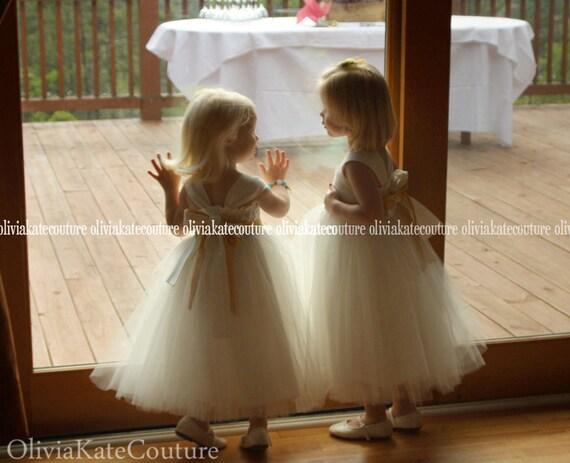 Organic Baby Flower Girl Dress Lace Sash