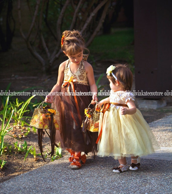 Custom Flower Girl Tutu Dress Weddings