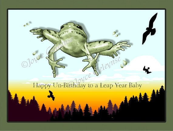 similar to Printable Leap Year Birthday Card: Leaping Frog, Happy ...
