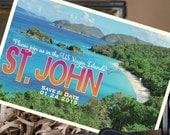 Vintage Postcard Save the Date (St. John) - Design Fee
