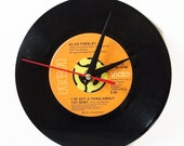 Elvis Presley Record Wall Clock, Vintage Desk Clock, Office Accessories, Music Lover Gift