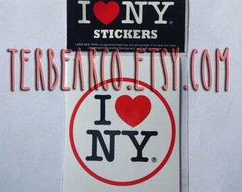 I Love NY Bumper Sticker Heart New York Decal I heart New York