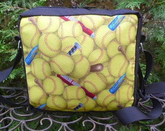 Softball shoulder bag, hipster bag, cross body bag, The Otter
