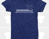 Men's TShirt Drop the Needle (Men), Dieter Rams, Turntable, DJ, Music T-Shirt S,M,L,Xl,Xxl, Mid Century, Blue, Men Shirt (4 Colors) for Men