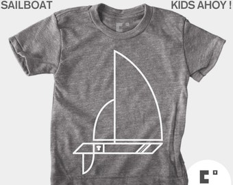 Sailboat - Boys and Girls Unisex TShirt