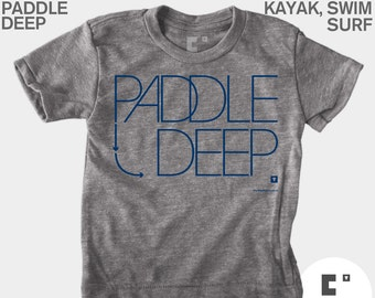 Girls Clothing, Paddle Deep, Baby Girls Clothes, Baby Gift, Hipster Kids, SUP, Paddle Board, Surf Cute Girls Top, Baby Shower Gift, Blue