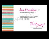 Thirty-One Business Card - Sunny Stripe