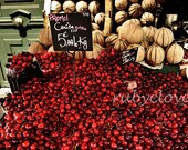 PARIS CHERRIES, Parisian Market, French Fruit Stand, MONTMARTRE Photo, Amelie, Quintessential France, European City Photography,Village Life