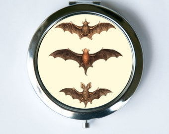 Bats Compact MIRROR Pocket Mirror  gothic psychobilly horror dracula vampires punk