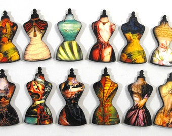 Surreal Dress Forms - Collection of 12 Laser Cut Craft Pieces