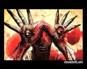 "Print 11x17"" - Pale Man - Pans Labyrinth Fantasy Surreal Dark Art Villian Guillermo del Toro Spanish Europe Horror Mexican Monster Eyes Pop"