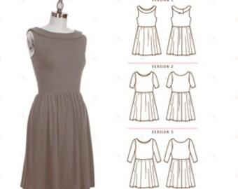 Colette Sewing PATTERN - Moneta - Dress