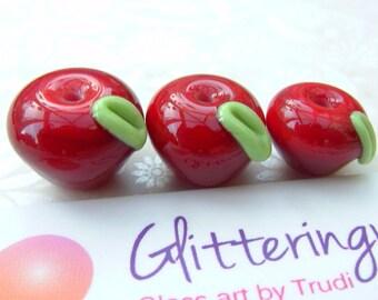 Lampwork Beads How D'ya Like Them Apples