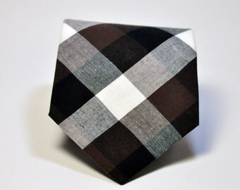 Brown and Black Men's Necktie