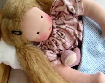 Waldorf doll, dress for Waldorf baby doll, doll dress, doll nightgown