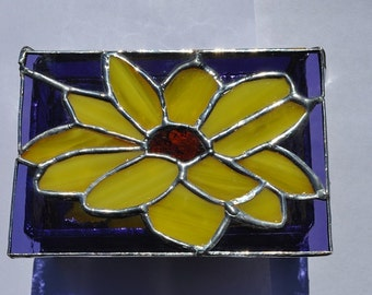 Stained Glass sunflower box