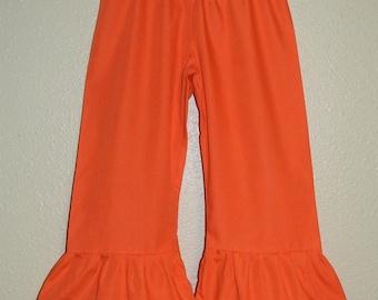 Super stylish orange ruffle pants, s.2T, 3T, 4, 5, 6, 7, 8, 9, 10, 12