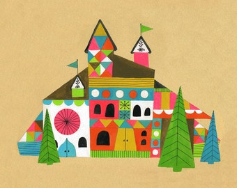 Lisa Congdon Chalet Archival Art Print