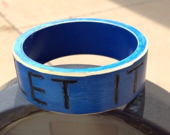 Let It Go Painted Wood Bangle