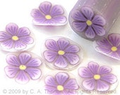 Purple daisy, fimo nail art cane, 2-inch (5cm) long polymer clay cane, DIY, Miniatures, Scrapbooking, Made in USA