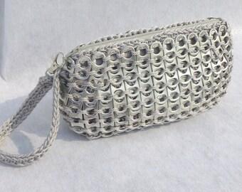 Pop Tab Wristlet in Silver