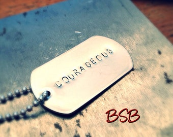 Courageous dog tag necklace free shipping