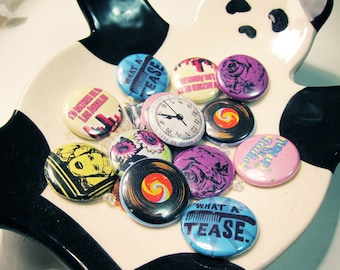 3 One-inch Pin/Buttons - Your Choice