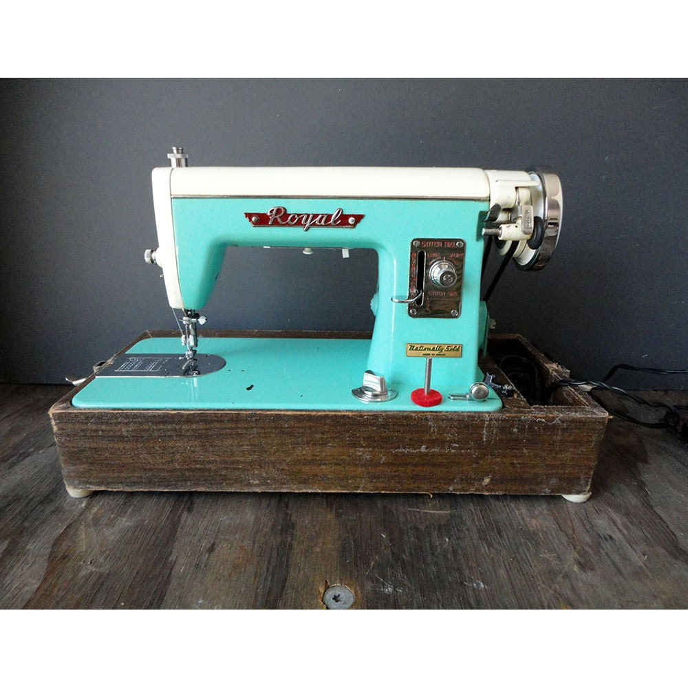 turquoise sewing machine