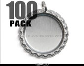 100 Pack Flat Bottle Caps with Split Rings. Annie Howes.
