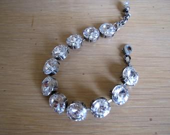 Swarovski Crystal Tennis Bracelet in Crystal Clear or Denim Blue 12mm Crystals