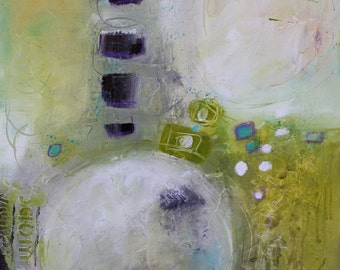 Contemporary Abstract Painting with Geo Metric Shapes Large Size  Fear Nothing  by Jodi Ohl