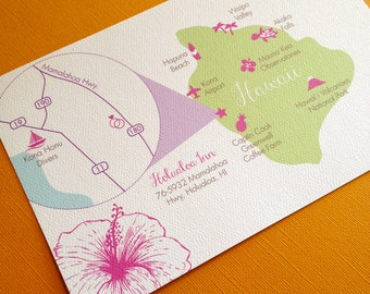 Custom Hawaii Wedding Map